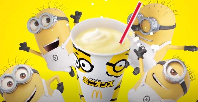 マックナゲット「ミニオンも大好き!とろけるマックシェイクバナナ味」篇 15秒」