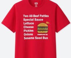 ビッグマック50周年ユニクロTシャツ赤