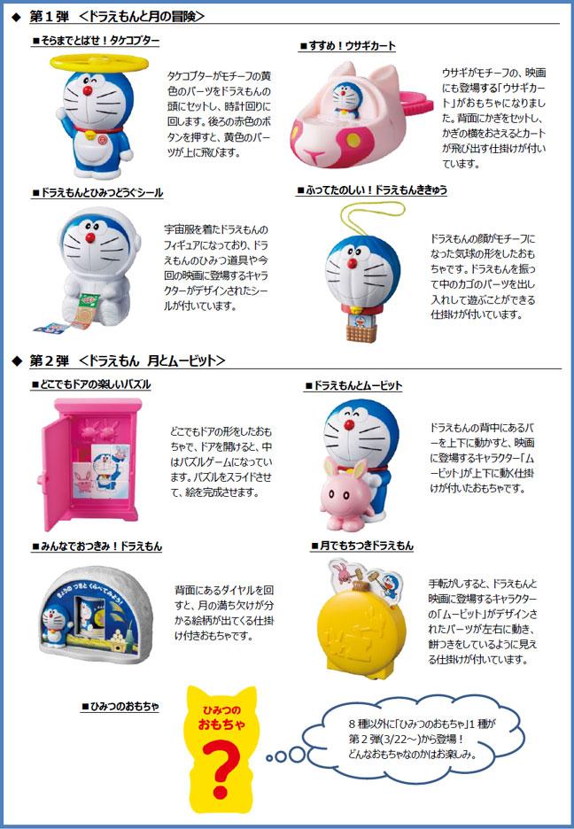 ハッピーセットドラえもん2019年3月8日9種類おもちゃ