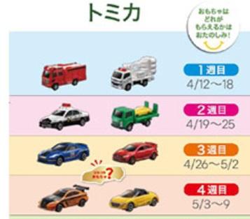 ハッピーセット「トミカ」2019年4月12日から九州地区