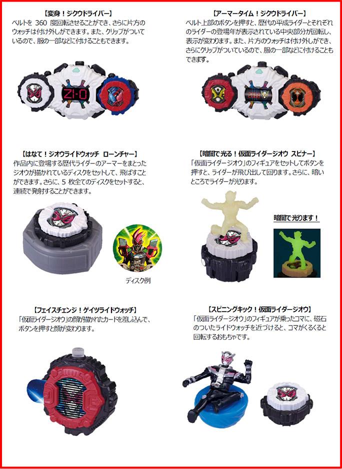 マクドナルドハッピーセット「仮面ライダージオウ」2019年5月17日6種類おもちゃ