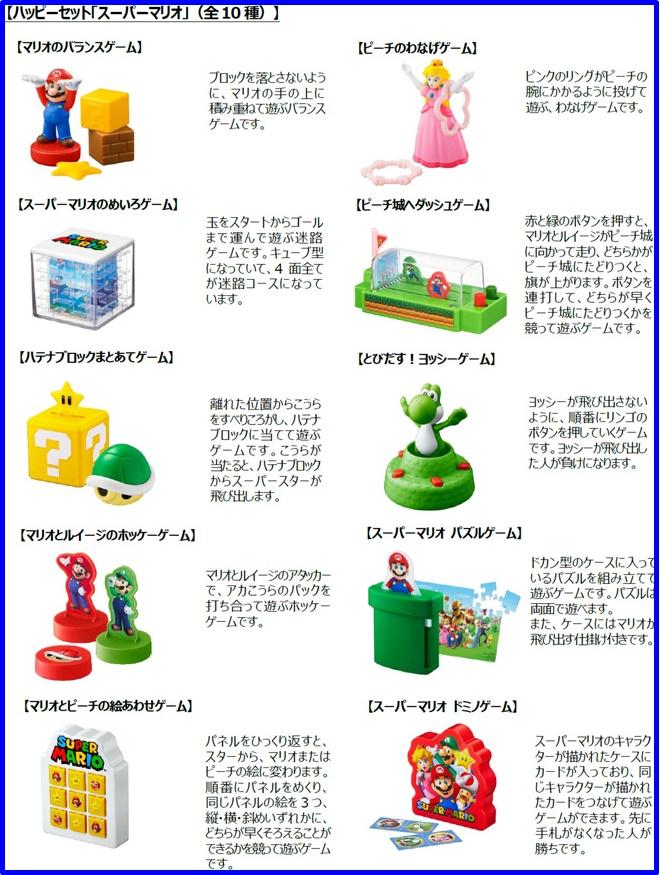 マクドナルドハッピーセット次回「スーパーマリオ」2019年12月10種類おもちゃ2
