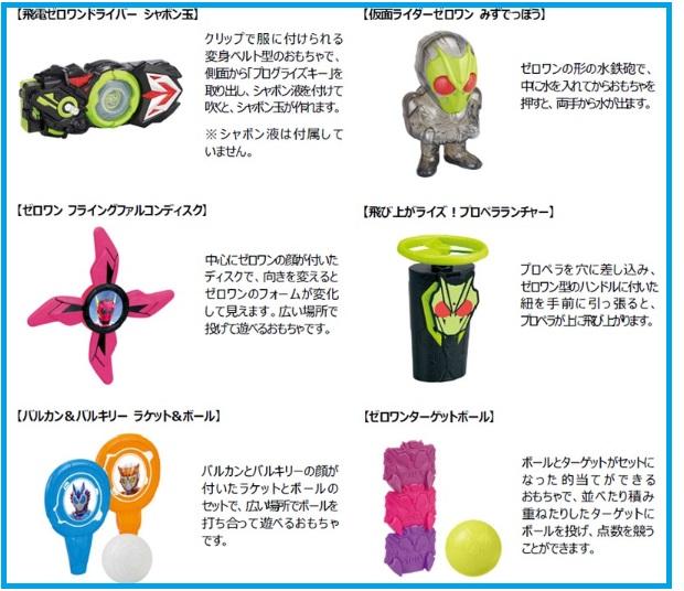 ハッピーセット「仮面ダイラーゼロワン」2020年5月22日6種類おもちゃ