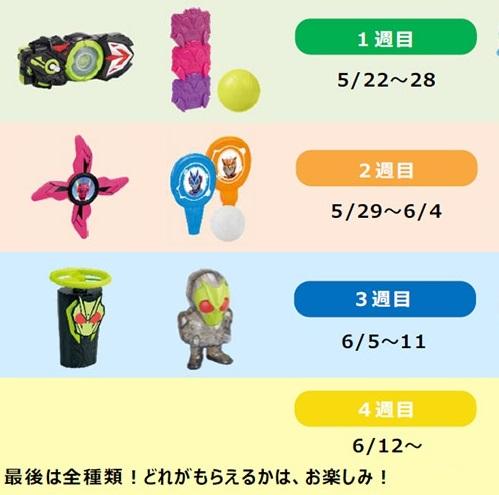 ハッピーセット「仮面ダイラーゼロワン」2020年5月22日6種類おもちゃ一部地域
