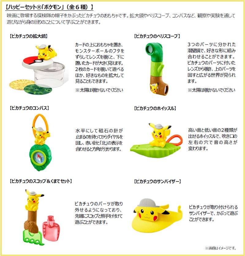 マクドナルド「ハッピーセットポケモン」2020年6月7月6種類おもちゃ2