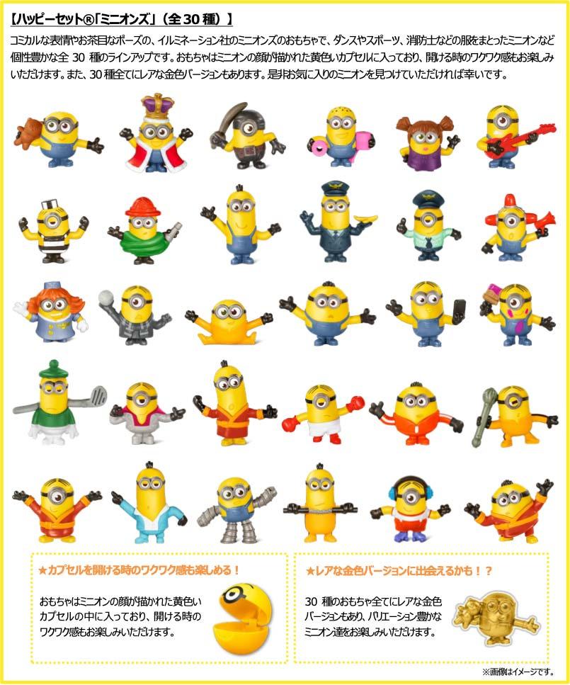 ハッピーセットミニオン2020年7月17日全30種類おもちゃ
