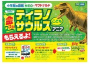 ハッピーセットコラボ企画NEOオリジナル「金ぴかティラノサウルス こども アニア」プレゼントキャンペーン