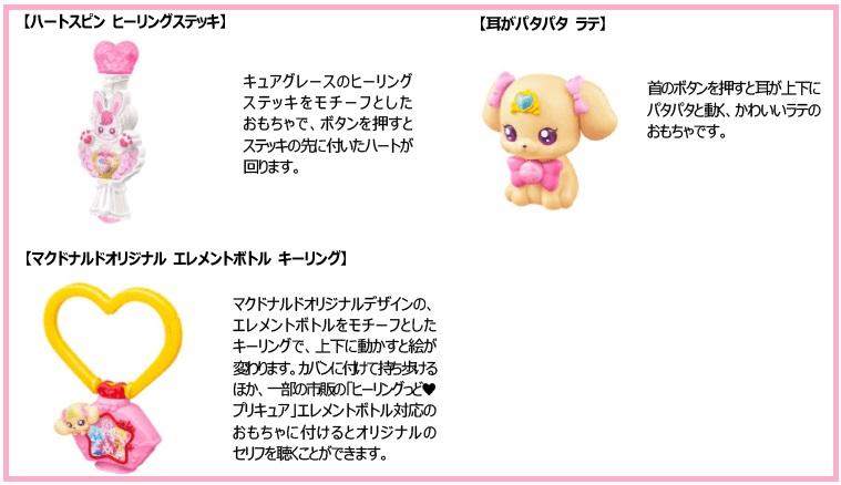 ハッピーセットプリキュア」2020年9月25日第2弾3種類おもちゃ