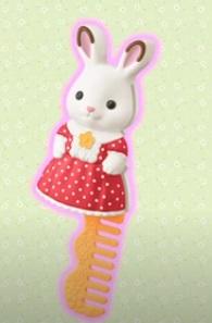 ハッピーセットのシルバニアファミリー2021第2弾「ショコラウサギの女の子コーム」
