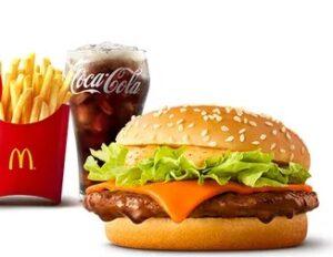 マクドナルドの新商品「赤辛てりやきセット」2021年5月
